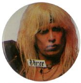 Motley Crue - 'Vince White' Button Badge
